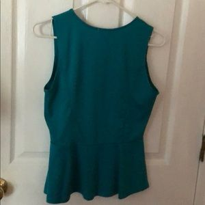 Tops - Teal peplum blouse